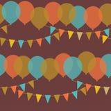 Ballone und Flaggen Stockfotografie