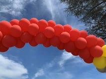 Ballone und Himmel stockfotografie