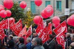 Ballone und Markierungsfahnen Lizenzfreie Stockfotos