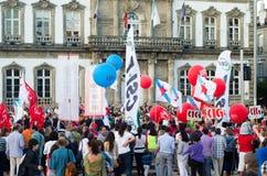 Ballone und Markierungsfahnen Stockfotos