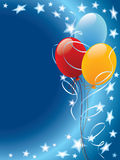 Ballone und Sterne Stockfoto