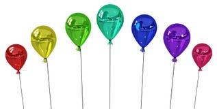 Ballonfarben stock abbildung