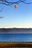 Ballong över laken royaltyfri bild
