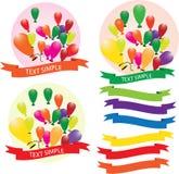 Ballong ballonger, luft, stock illustrationer