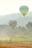 Ballong eller varm luft Arkivbild