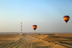 Ballong för varm luft, Dubai Fotografering för Bildbyråer