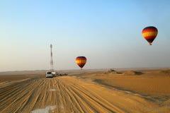 Ballong för varm luft, Dubai Royaltyfria Bilder
