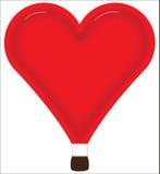 Ballong för varm luft för hjärta Royaltyfri Bild