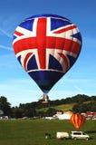 Ballong för varm luft för UK Royaltyfri Foto