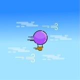 Ballong för varm luft i himmelvektorkonsten Arkivfoto