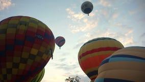 Ballong för varm luft, internationell ballongfestival lager videofilmer