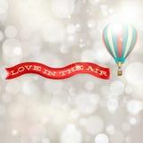 Ballong för varm luft med banret 10 eps Royaltyfri Fotografi