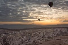 ballong för varm luft för resa Fotografering för Bildbyråer