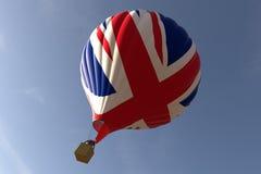 Ballong för varm luft - Union Jack Royaltyfria Bilder