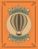 Ballong för varm luft i retro stil Royaltyfri Bild