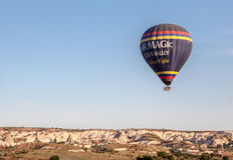 Ballong i Cappadocia Turkiet Royaltyfri Fotografi