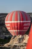 Ballong i Cappadocia Turkiet Arkivbild