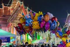 Ballong i en tempelfestivalkarneval Royaltyfri Fotografi