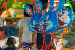 Ballong i en tempelfestivalkarneval Arkivfoto