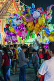 Ballong i en tempelfestivalkarneval Royaltyfria Bilder