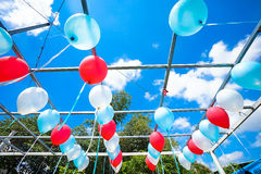 Ballong i luften Arkivfoton