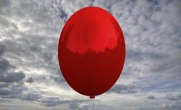 Ballong med reflexion av landskapet Arkivbilder