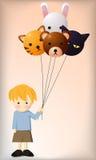 Ballong och pojke Royaltyfri Bild