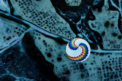 Ballong på gryning från över Fotografering för Bildbyråer