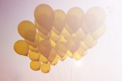 Ballong på himmel Fotografering för Bildbyråer