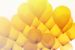 Ballong på himmel Arkivfoto