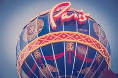 Ballong Paris Las Vegas för varm luft Fotografering för Bildbyråer