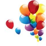 Ballong som isoleras på vit bakgrund Arkivfoton