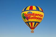Ballong Sundance för varm luft Arkivfoto
