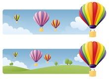Ballongbaner vektor illustrationer