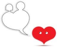 ballongen bubbles hjärtaförälskelse Royaltyfria Bilder