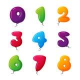 Ballongen numrerar vektoruppsättningen Fotografering för Bildbyråer