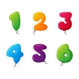 Ballongen numrerar vektoruppsättningen Royaltyfri Foto