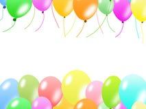 ballonger border färgrikt Arkivfoto