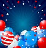 ballonger border patriotiskt vektor illustrationer