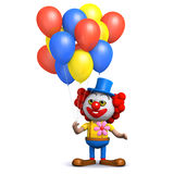 ballonger för clown 3d Arkivfoton