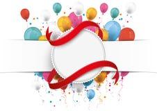 Ballonger för flagga för vitbokbaneremblem Royaltyfria Foton