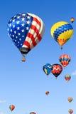 Ballonger för varm luft Arkivfoton