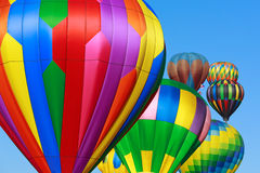 Ballonger för varm luft Arkivbild