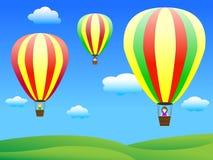 Ballonger för varm luft Arkivfoto