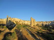 Ballonger för varm luft av Cappadocia, Turkiet Royaltyfri Bild