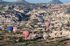 Ballonger i Cappadocia Arkivbild