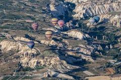 Ballonger i Cappadocia Arkivfoto