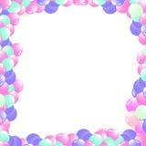Ballonger i en inrama vektor illustrationer