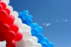Ballonger i skyen Royaltyfria Foton
