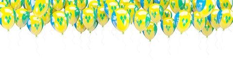 Ballonger inramar med flaggan av Saint Vincent och Grenadinerna royaltyfri illustrationer
